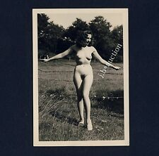 #341 RÖSSLER AKTFOTO / NUDE WOMAN STUDY * Vintage 1950s Outdoors Photo - no PC !