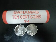 2010 Bahamas 10 cents coin - Bonefish & coat of arms - Roll, Ten Cent $0.10