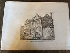 1821 Lithograph - Manchester - Residence of the Head Master, Long Mill Gate