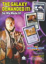 "Babylon 5 ""The Galaxy Demanded It"" CCG 1998 Magazine Advert #4293"