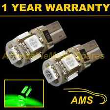 2X W5W T10 501 CANBUS ERROR FREE GREEN 5 LED SIDELIGHT SIDE LIGHT BULBS SL101306