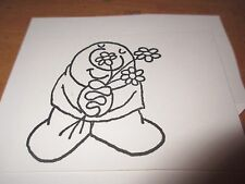 "Stampendous ""Ziggy holding flowers "" Un  Mounted Rubber Stamp"