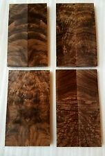 Highly Figured Walnut Book Matched Knife Scales Set of 4 pcs.