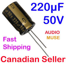 2pcs 220uF 50V 16x25mm Nichicon KZ Muse For Audio Amplifier Stereo WiFi Radio AV