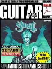 GHOST BC Guitar + Bass Sheet Music Tabs PDF CD Digital Tablature Songs Meliora