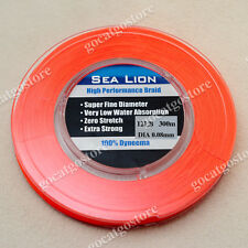 NEW Sea Lion 100% Dyneema Spectra Braid Fishing Line 300M 12lb Orange