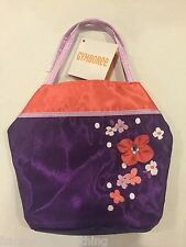 NWT Gymboree Cherry Blossom Purple Flower Asian Coin Purse Tote bag girls kids