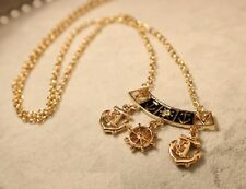N563 BETSEY JOHNSON Anchor Wheel Sailor Buoys Charm Necklace US