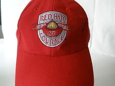 Red Hats Beyond the Call of Courage Red  Embroidery Hat Cap Firemen