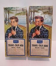 Sears Trans-Talk 600 Walkie Talkies Pair
