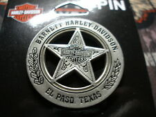 HARLEY DAVIDSON 3D DIE CAST ANTIQUE NICKEL MARSHAL BADGE EL PASO, TEXAS