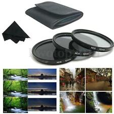52mm Neutral Density ND2 ND4 ND8 CameraLens Filter+Pouch For Canon Nikon DSLR
