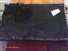 large soft leather pouch important MAGGIE paper holder zippered