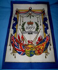 VTG Queen's Silver Jubilee 1977 Souvenir Kitchen Tea Towel Cotton Unused!