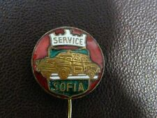 Automobile Service Sofia Enamel Pin 50's Old Volga Car Very Rare