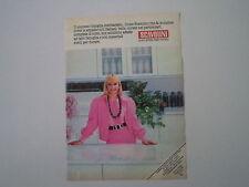 advertising Pubblicità 1984 CUCINE SCAVOLINI e RAFFAELLA CARRA'
