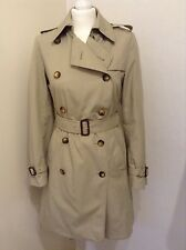 BURBERRY LADIES TRADITIONAL MAC TRENCH COAT SIZE 8 REGULAR