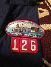 BSA MADE IN USA CUB SCOUT BLUE CONNECTICUT YANKEE COUNCIL 126 YOUTH SMALL