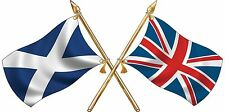 large St Andres/ Union Jack Crossed Flags Sticker Truck Car Motorhome Van