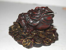 Red Lucky Money Toad / Frog & Coins - Prosperity, Feng Shui & Chinese New Year
