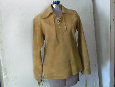 NATIVE AMERICAN MOOSE HIDE JACKET WITH NO BEADING LADIES SIZE XS WITH TIES