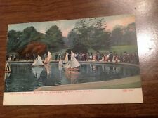 1910s SAILING SMALL BOATS IN CENTRAL PARK NEW YORK NY POSTCARD