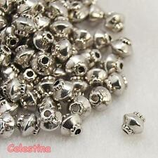 50 x Tibetan Silver Spacer Beads - Bicone Pattern Edge  - LF CF NF - 5mm - SP86