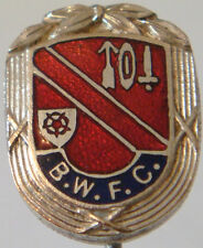 BOLTON WANDERERS Rare vintage club crest type badge Stick pin 14mm x 18mm