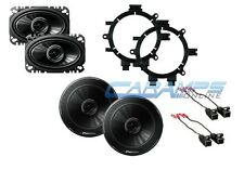 GM EXTENDED / REGULAR CAB TRUCK STEREO FRONT & REAR SPEAKERS W MOUNTING BRACKETS