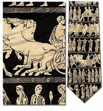 Greek Panathenaic Gods and Goddesses Procession Silk Tie - 8479