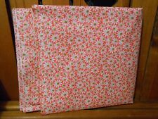 Fabric 1 Yard Crazy Daisy White Flower Green Center Pretty Pink Quilting Cotton