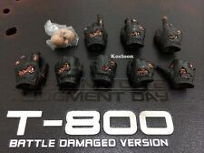 Hot Toys DX13 Terminator 2 T800 Battle Damaged 1/6 Hands, Palms and Pegs Set NEW