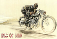 Vintage Deco Isle of ManTT Motorcycle (1) A3 Art Poster Print
