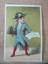 1 x CHROMO TRADE CARD Litho F. APPEL  LA SAMARITAINE PARIS vers 1890