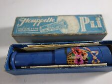 Vtg.  French Houppette Pli Retractable BluePowder Puff Molinard Brevette S.G.D.G