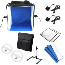 "Photo Studio 16""Photography LED Light Tent Backdrop Kit 40cm Cube Stand In A Box"