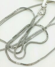 "14k Solid White Gold Foxtail Square Box Wheat Necklace Chain 20"" 0.8mm"