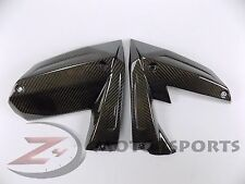 2008 2009 ZX10-R ZX10R Upper Side Mid Cover Fairing Panel Trim 100% Carbon Fiber