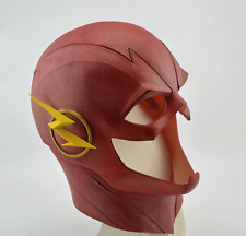 The Flash Helmet Halloween Full Face Latex Mask Helmet Hood fit adult