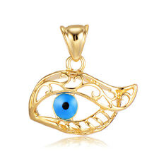 Enamel Mystic Evil Eye Pendant For Necklace Gold Filled Jewellery