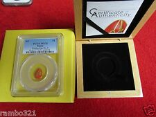 $1 Palau .9999 Gold Proof 0.5 gram Golden Egg No. 2 NGC PCGS MS70 box & coa ogp