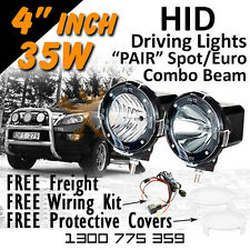 HID Xenon Driving Lights - 4 Inch 35w Spot/Euro Combo 4x4 4wd Off Road 12v 24v