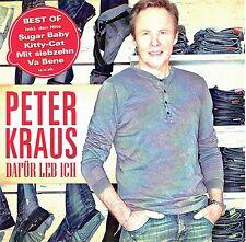 (CD) Peter Kraus - Dafür Leb Ich (Best of) - Sugar Baby, Va Bene, Sweety, u.a.