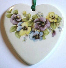 MULTI-COLOR PANSIES SWAG HEART BASKET TIE ON-NEW-SHOP STORE SALE TODAY