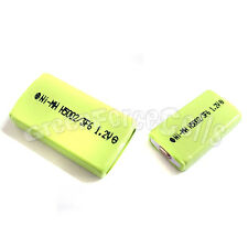 2 pcs 500mAh 1.2V 2/3 F6 NiMH Gumstick Rechargeable Battery CD MD HI-MD
