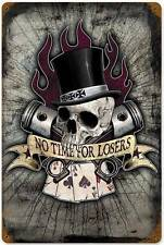 Lethal Threat No Losers Card Poker Metal Sign Man Cave Shop Garage Club LETH052