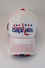 Washington Capitals NHL 2011 Winter Classic Vintage Logo White Cotton Hockey Hat