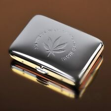 Pocket Cigarette Tobacco Cigar Metal Copper Storage Case Box Holder Marijuana
