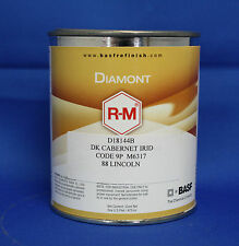 RM Diamont dark cabernet irid code 9P 88 Lincoln auto basecoat paint pint