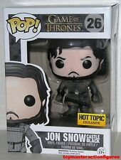 FUNKO POP 2014 GAME OF THRONES JON SNOW #26 CASTLE BLACK HT EXCLUSIVE In Stock